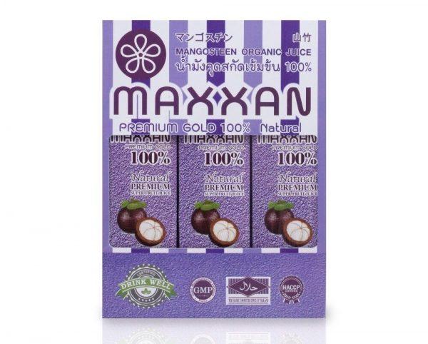 น้ำมังคุดออร์แกนิค100% maxxanberry pack3